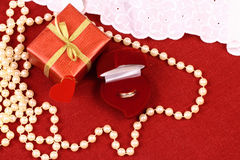 Present for St. Valentine Day Royalty Free Stock Photos