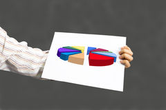 Present  stock market graphs and charts Stock Photography