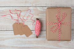 Present String Gift Tags Royalty Free Stock Photos