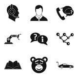 Present technology icon set, simple style Stock Images
