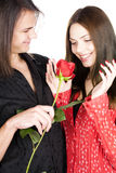Present to Valentine Day Royalty Free Stock Photography