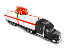 Present truck isolated front view Stock Photo