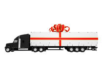 Present truck isolated side view Stock Images