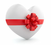 Present valentine. Heart 3D.  Stock Images