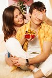 Present on the Valentine's day Royalty Free Stock Image