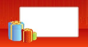 Present vignette. A christmas vignette with surprise boxes Stock Photography