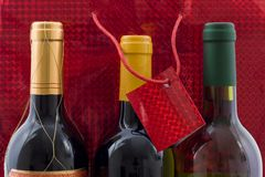 Present of wine Stock Image