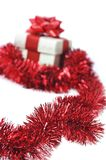 Present wraped by red ribbon Royalty Free Stock Image