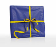 Present wrapped in paper, Isolated Stock Photo