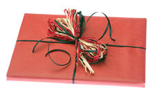 Present Wrapped In Red Paper. Isolated Stock Image