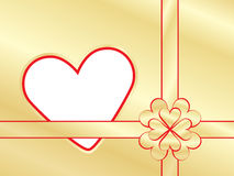 Present wrapper with valentine Stock Image