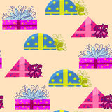 Present wrapping and holiday background Royalty Free Stock Image