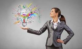 Present your idea Stock Photo