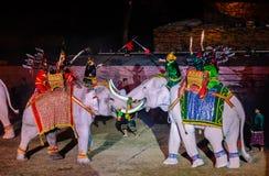 Presentación 2012 de la luz y del sonido de Ayutthaya Foto de archivo libre de regalías