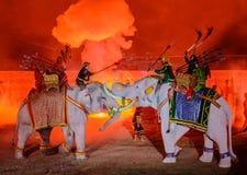 Presentación 2012 de la luz y del sonido de Ayutthaya Foto de archivo