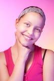 Presentación adolescente feliz de la muchacha Foto de archivo libre de regalías