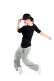 Presentación con estilo y fresca del bailarín del estilo del salto de la cadera imagen de archivo