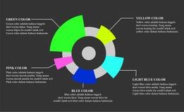 Presentación de cogida del negocio de la diapositiva del ojo Foto de archivo libre de regalías