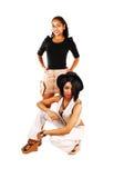 Presentación de dos muchachas. Foto de archivo libre de regalías