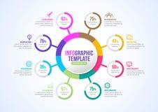 Presentación de Infographic para el vector del diseño de la cronología de la plantilla del negocio, márketing de negocio ilustración del vector