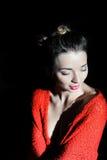 Presentación de la chica joven Fotografía de archivo libre de regalías