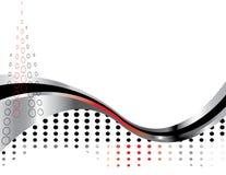 Presentación de la curva del cromo Imagen de archivo libre de regalías
