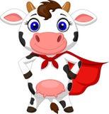 Presentación de la historieta de la vaca del super héroe Fotos de archivo libres de regalías