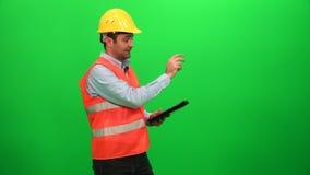 Presentación de la ingeniería en la pantalla verde Lado izquierdo almacen de video