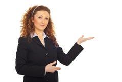 Presentación de la mujer de negocios Foto de archivo libre de regalías
