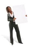 Presentación de la mujer de negocios Fotografía de archivo