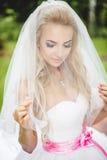 Presentación de la novia fotografía de archivo libre de regalías