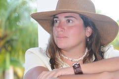 Presentación de la señora joven Fotos de archivo libres de regalías
