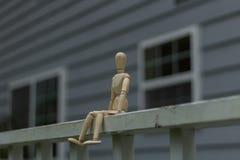 Presentación de madera del maniquí Foto de archivo