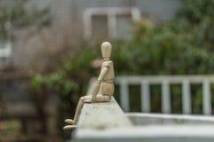 Presentación de madera del maniquí Fotografía de archivo