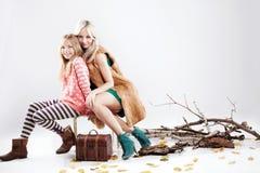 Presentación de moda de la familia Fotos de archivo libres de regalías