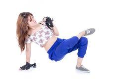 Presentación de moda hermosa del adolescente Foto de archivo