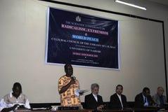 Presentación de papel erudita en Naiorbi Fotos de archivo