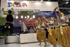 Presentación de Serbia en turismo de Belgrado justo Imágenes de archivo libres de regalías