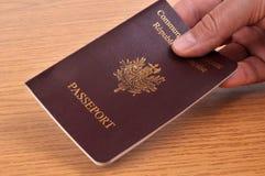Presentación de un pasaporte europeo stock de ilustración