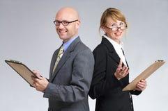 Presentación de ventas o encuesta de la público-opinión Imágenes de archivo libres de regalías