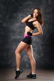 Presentación del atleta de la muchacha Fotografía de archivo libre de regalías
