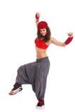 Presentación del bailarín de la calle de la mujer Foto de archivo libre de regalías