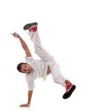 Presentación del bailarín del estilo del salto de la cadera Imagen de archivo