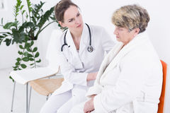 Presentación del diagnóstico médico Foto de archivo