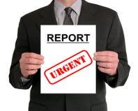 Presentación del hombre de negocios (informe) Imagen de archivo libre de regalías