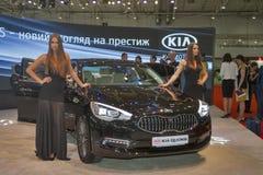 Presentación del modelo del coche de KIA Quoris Imagen de archivo libre de regalías