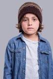 Presentación del muchacho de la manera Imagen de archivo