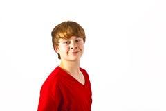 Presentación del muchacho sonriente feliz lindo Fotografía de archivo libre de regalías