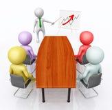 Presentación del negocio con las figuras 3D stock de ilustración