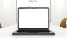 Presentación del negocio del ordenador portátil ilustración del vector